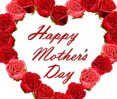 Happy mothers day red roses