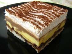 Slovak Recipes, Czech Recipes, Russian Recipes, Graham Crackers, Sweets Cake, Love Cake, Sweet And Salty, Desert Recipes, Sweet Recipes