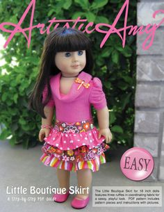 American Girl Free Sewing Patterns | ... Skirt: PDF Sewing Pattern for 18 inch doll (like American Girl Doll