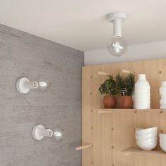 Natural Fermaluce, the white painted wooden flush light for your wall or ceiling, Natural Charcoal, White Charcoal, Flush Lighting, Wall Lights, Ceiling Lights, Ceiling Canopy, White Paints, Painting On Wood, Light Bulb