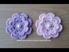 How to make a flower # flower making # knittingmodels Knitted Flowers, Crochet Flower Patterns, Baby Knitting Patterns, Crochet Designs, Crochet Doilies, Crochet Summer Tops, Love Crochet, Knit Crochet, Crochet Videos