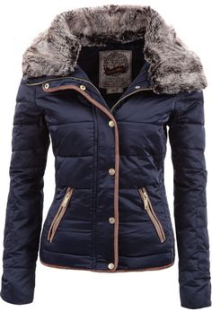 Chic Turn-Down Neck Long Sleeve Pocket Design Women's Padded Coat