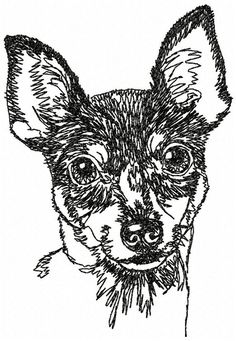 TOY FOX TERRIER  12 x 12  Embroidered white by OneDogFashions