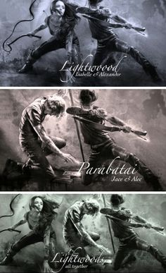 Lightwood family Isabelle, Jace, and Alec #parabatai #brothers #shadowhunters…