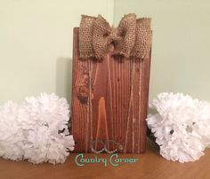 Rustic Photo Block  Country Picture Frame  by CCsCountryCorner