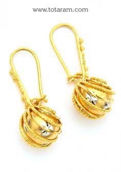 Gold Hoop Earrings Ear Bali In 22k Totaram Jewelers Indian