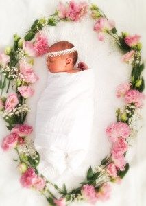 Baby girl pictures for each month.  Click to see more ideas for baby pictures with flowers