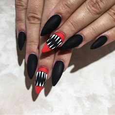Monster Mouth | Top 10 DIY Halloween Nail Art Ideas