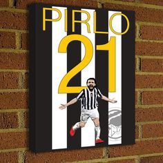 Andrea Pirlo Canvas Print - Juventus Soccer Poster #soccer #wallart #decor #canvas #art #poster #graphicdesign #soccerart #football #futbol #etsy #g17 #graphics17 #etsy