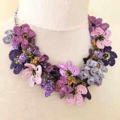 """""""Handmade Crochet necklace www.novaromashop.com #oya #oyalace #oyabracelet…"""