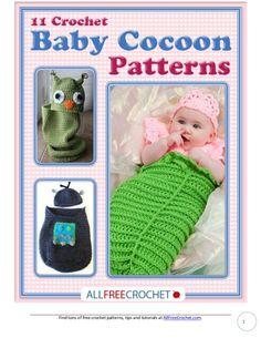 11 baby crochet cocoon patterns 11 baby cocoons englisch, ganze anleitungen