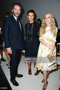 Remo Ruffini, Francesca Ruffini and Franca Sozzani attend the Giambattista Valli show as part of Paris Fashion Week Haute-Couture Fall/Winter 2013-2014 at Grand Palais on July 1, 2013 in Paris, France.
