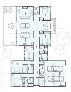 square feet 1 Story 4 Bedroom Bathroom-- I can really work with this. Home Design Floor Plans, House Floor Plans, Plan Design, Building Plans, Building Design, Building A House, Best House Plans, Modern House Plans, Stillwater Dwellings