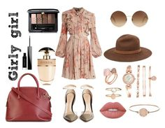 """""""Girly girl"""" by amrinjo ❤ liked on Polyvore featuring Giambattista Valli, Victoria Beckham, rag & bone, CÉLINE, Gianvito Rossi, Anne Klein, Michael Kors, Accessorize, Prada and Givenchy"""