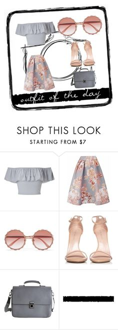 """outfit of the day"" by slytheriner ❤ liked on Polyvore featuring Miss Selfridge, Dolce&Gabbana, Stuart Weitzman, Louis Vuitton and Tim Holtz"