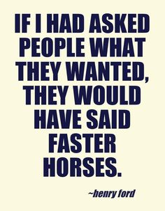 We want faster horses! - Limk