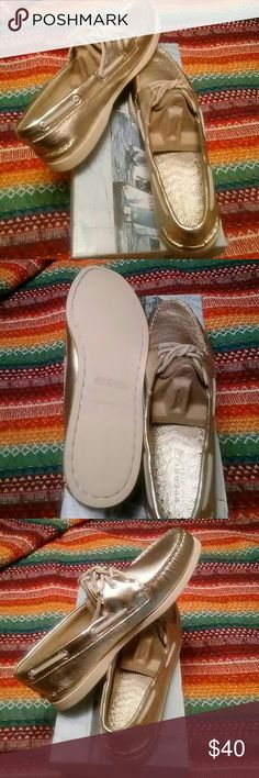 Sperry boat shoes Gold metallic women Sperry  Shoes Flats & Loafers