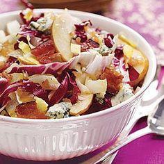 Harvest Salad with Bacon Vinaigrette Recipe | MyRecipes.com