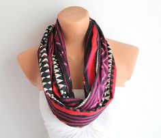 Infinity Scarf Loop Scarf Circle Scarf Cotton scaf by fairstore, $18.00