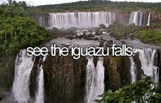 Iguazu Falls are waterfalls of the Iguazu River located on the border of the Brazilian State of Paraná and the Argentine Province of Misiones. Oh The Places You'll Go, Places To Visit, Bucket List Life, Iguazu Falls, Before I Die, Travel Goals, Just In Case, To Go, Around The Worlds