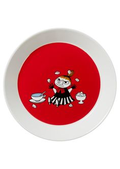 Mumi by Arabia tallerken 19 cm Lille My rød Red Plates, Childrens Aprons, Childrens Books, Moomin Mugs, Classic Plates, Tove Jansson, Le Village, Little My