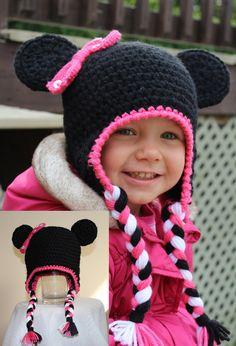 Mimi the Mouse Animal Hats, Crochet For Kids, Infant, Crochet Hats, Children, Unique, Handmade, Party Ideas, Animals