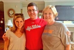 Pat and Tyler Summitt (with his wife). Nice shirts, y'all.