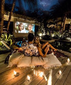 Saturday Movie Night🌙 via by Bali Travel, Luxury Travel, Boho Garden Party, Dream Dates, Voyage Bali, Summer Fun List, Summer Bucket, Couple Photography Poses, Beautiful Beaches