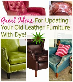 Tips That Help You Get The Best Leather Sofa Deal. Leather sofas and leather couch sets are available in a diversity of colors and styles. A leather couch is the ideal way to improve a space's design and th Paint Leather Couch, Dark Leather Couches, Leather Furniture, Upcycled Furniture, Unique Furniture, Diy Furniture, Painted Furniture, Furniture Logo, Luxury Furniture