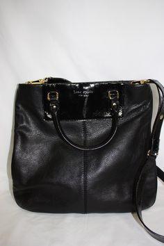 Kate Spade black leather crossbody bag. $249.99