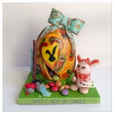 Tiny Easter Egg - 50 Shades of Easter Collaboration  by Sweet Side of Cakes by Khamphet
