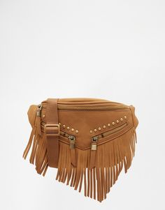 New Look Fringed Bumbag