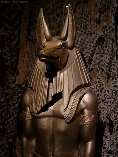 Anubis was the Greek name given to the Jackal headed god of the after life although his original Egyptian / Khemetian name is Anpu.