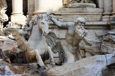 Image result for trevi fountain horses