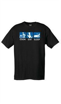 Attitude Chef T-Shirt - Cook, Eat, Sleep