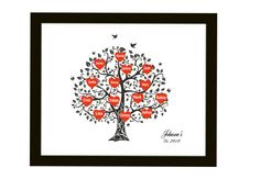 Personalized Family Tree Art Print  Gift for by DIGIArtPrints, $10.00