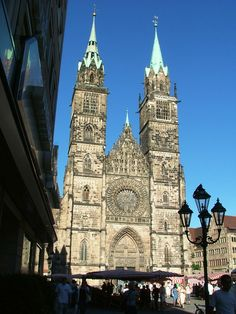 Nurnberg, Germany...MY FAVORITE city in germany.. :) Loved this cathedral..