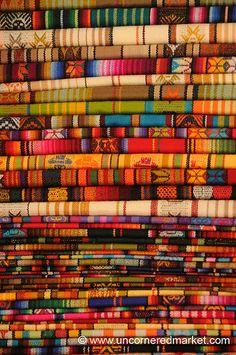 Colorful Cloth - Otavalo Market, Ecuador