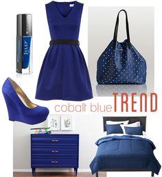 cobalt blue trend - I love the dress...