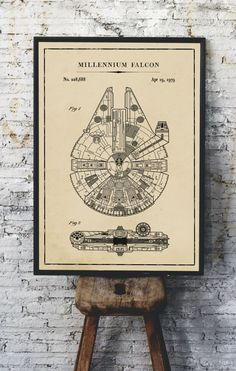 Free Printable Star Wars Blueprints | Star Wars free vintage blueprint posters | Free DIY Star Wars gift | Millennium Falcon, TIE Fighter, At At Walker, Snowspeeder, Imperial Shuttle, Slave 1, TIE Bomber, X Wing Starfighter Posters | Free printable gift for Star Wars fans | #TheNavagePatch #FreePrintable #Starwars #Blueprint #VintagePrintable #PatentArt #FreeArt #Oversize #Freeposters #GalleryWall #industrial | TheNavagePatch.com