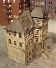 HO Scale Building Vollmer Post Office Built Up Weathered | eBay