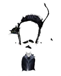"""""""I was never really insane except upon occasions when my heart was touched"""" - Edgar Ellan Poe  Illustration by Pablo Bernasconi. °"""
