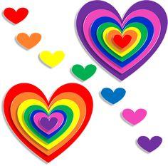 Corazones, El Amor, 3D, Día De San Valentín, Febrero