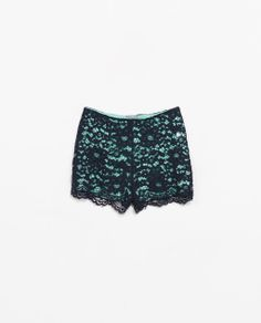Image 7 of LACE SHORTS from Zara