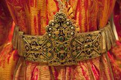 Traditional bridal belt. Late-Ottoman era, ca. 1900. Greek, from Thrace .