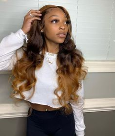 Rose PrePlucked Ombre Blond Lace Frontal Wig Density The most fashionable wig in 2020 Wig Styles, Curly Hair Styles, Curly Hair Sew In, Curly Wigs, Birthday Hairstyles, Honey Blonde Hair, Ash Blonde, Baddie Hairstyles, Frontal Hairstyles