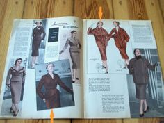 Modezeitschrift ATELIER Winter 1955/56 -Schnittmuster 50er Jahre ELEGANT Rarität   eBay