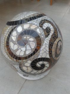 Mosaic ball, stained glass. Every tile handmade.