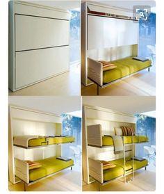 Hiding bunk beds.