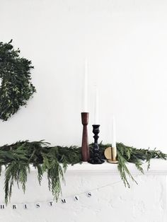A holiday mantel from Simply Grove